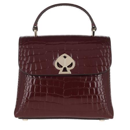 Kate Spade  New York Satchel Bag  -  Romy Croc Embossed Mini Top Handle Bag Cherrywood  - in rot  -  Satchel Bag für Damen braun
