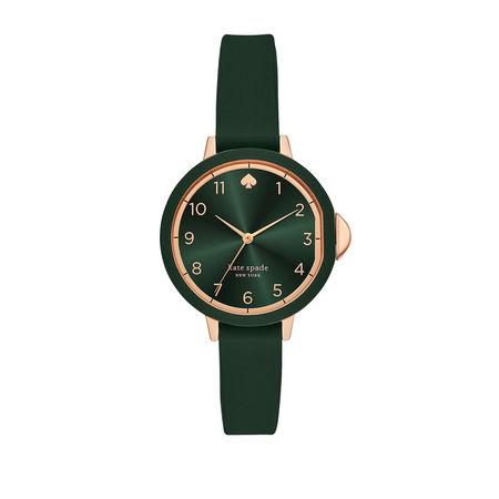 Kate Spade  New York Uhr  -  KSW1543 Park Row Fashion Watch Roségold  - in grün  -  Uhr für Damen grau