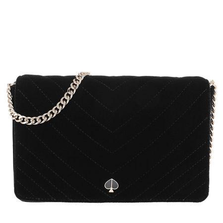 Kate Spade  New York Umhängetasche  -  Amelia Velvet Chain Wallet Black  - in schwarz  -  Umhängetasche für Damen schwarz