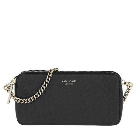 Kate Spade  New York Umhängetasche  -  Margaux Double Zip Mini Crossbody Bag Black  - in schwarz  -  Umhängetasche für Damen grau