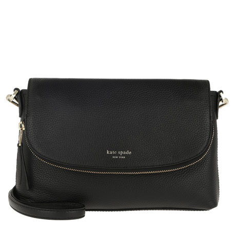 Kate Spade  New York Umhängetasche  -  Polly Large Convertible Flap Crossbody Bag Black  - in schwarz  -  Umhängetasche für Damen schwarz