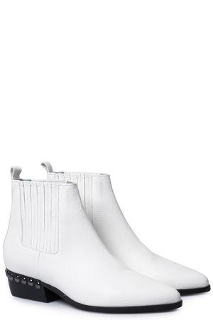 Kennel & Schmenger  Leder-Stiefeletten Fibi mit Nieten-Details Damen Farbe: weiß verfügbare Größe: 4|5|6|6.5|7.5 grau