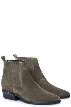 Kennel & Schmenger  Veloursleder-Stiefeletten mit Nieten-Details Damen Farbe: taupe verfügbare Größe: 4|5|5.5|6|6.5|7.5|4.5|7 grau