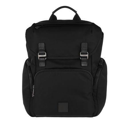 """Knomo  LONDON Rucksack  -  Thurloe Backpack 15"""" Black  - in schwarz  -  Rucksack für Damen schwarz"""