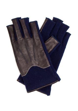 L'apéro Handschuhe in Navy schwarz