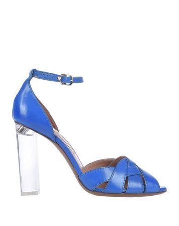 L'Autre Chose L' AUTRE CHOSE 37 Damen Königsblau Sandale Leder weiss