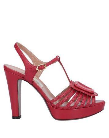 L'Autre Chose L' AUTRE CHOSE Damen Rot Sandale Leder pink