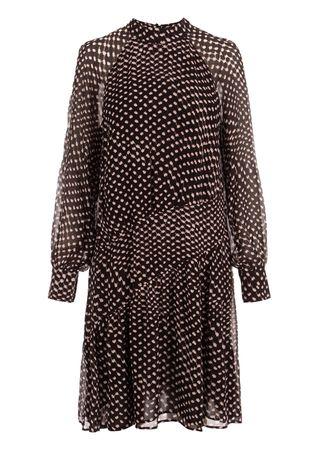 Lala Berlin Kleid aus Viskose in Schwarz braun