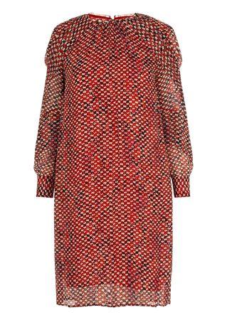 Lala Berlin Kleid mit Python-Print in Rot braun
