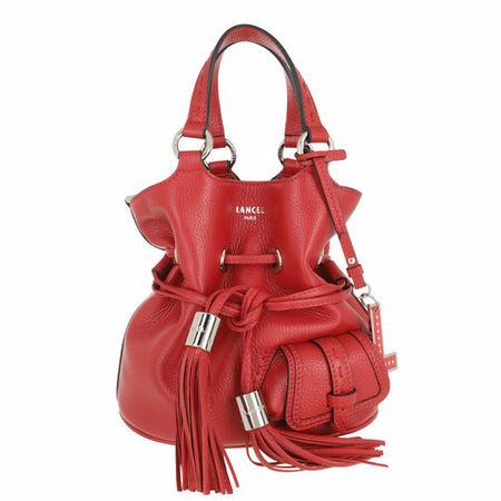 Lancel  Beuteltasche - Bucket Bag S - in red - für Damen