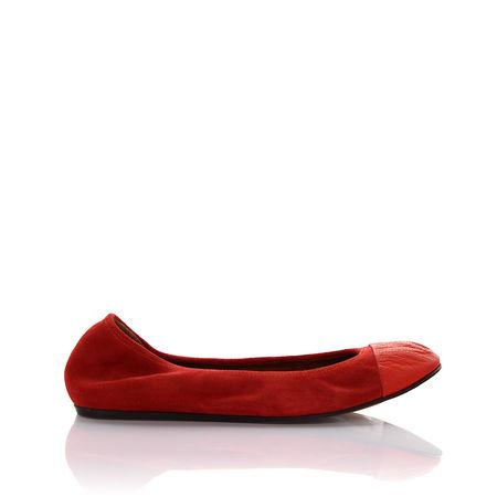 Lanvin  Ballerinas MIMA Veloursleder Ziegenleder rot rot