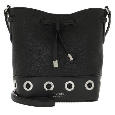 Lauren Ralph Lauren  Beuteltasche  -  Debby II Drawstring Mini Black  - in schwarz  -  Beuteltasche für Damen schwarz