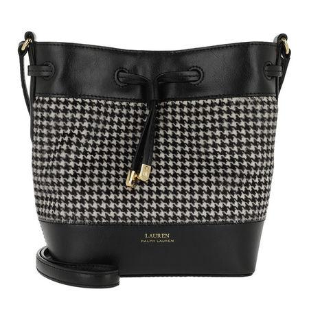 Lauren Ralph Lauren  Beuteltasche  -  Debby II Drawstring Mini Grey  - in schwarz  -  Beuteltasche für Damen schwarz