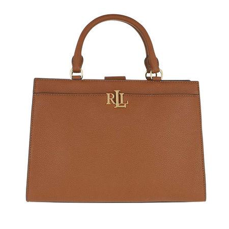 Lauren Ralph Lauren  Satchel Bag  -  Laine Satchel Medium Lauren Tan  - in cognac  -  Satchel Bag für Damen braun