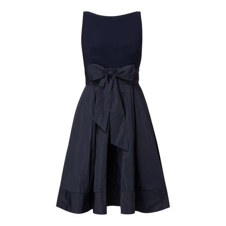 Lauren Ralph Lauren Wickelkleid mit Taillenband schwarz