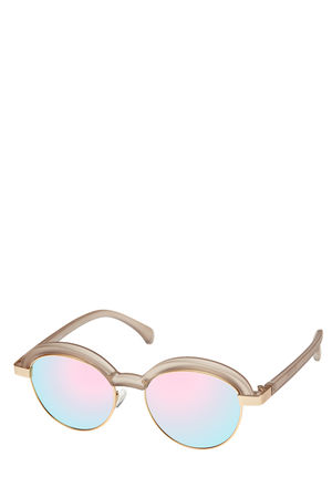 Le Specs  Sonnenbrille Slid Lids Matte Stone Damen Farbe: hellgrau braun
