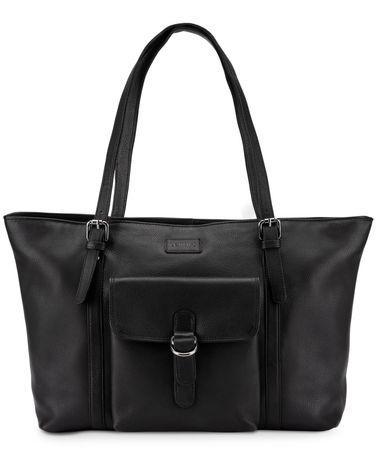 Leabags  Shopper Verona - Onyx Black schwarz