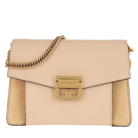 Givenchy  Umhängetasche  -  Small GV3 Bag Leather And Suede Nude/Light Beige  - in rosa  -  Umhängetasche für Damen orange