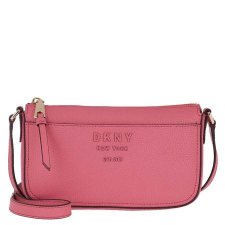 DKNY  Umhängetasche  -  Noho Demi Pebble Punch/Light Charcoal  - in pink  -  Umhängetasche für Damen rot