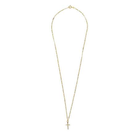 LLR Studios  Halskette  -  Tiny Fiagro X Cross 50cm Necklace Gold  - in gelbgold  -  Halskette für Damen beige