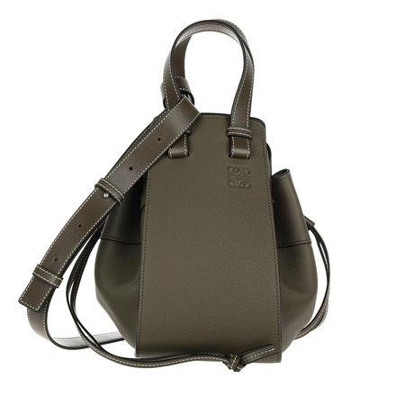 Loewe  Beuteltasche  -  Hammock Drawstring Small Bag Khaki Green  - in grün  -  Beuteltasche für Damen grau