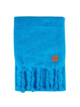 Loewe  - Mohair-Schal mit Fransen Blau blau