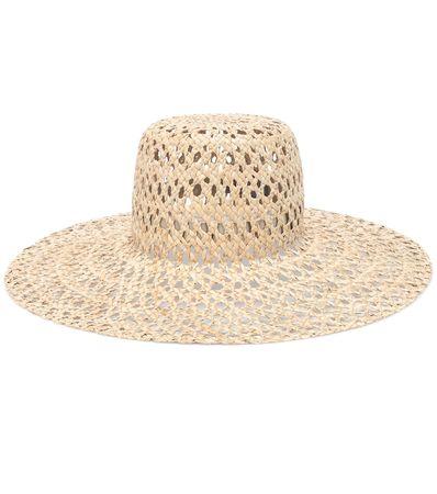 Lola Hats Hut Espalier aus Gras beige