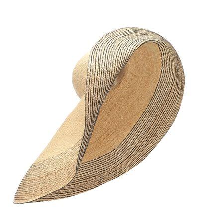 Lola Hats Strohhut Spinner aus Raffia braun