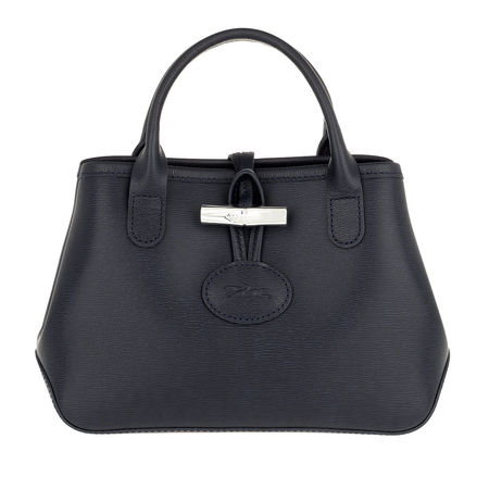 Longchamp  Tote  -  Roseau Crossbody Bag Leather Navy  - in blau  -  Tote für Damen grau