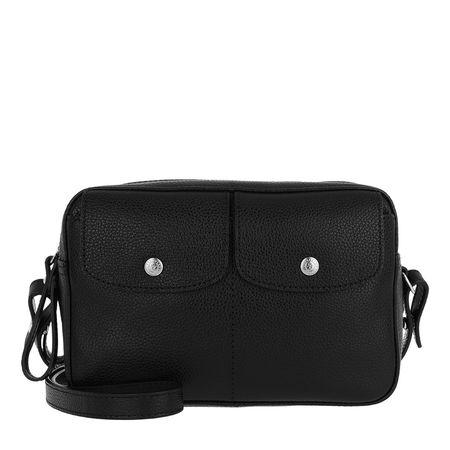 Longchamp  Umhängetasche  -  Le Foulonné Crossbody Bag Leather Black  - in schwarz  -  Umhängetasche für Damen schwarz