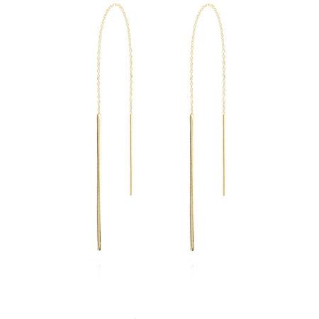 LOTT. gioielli LOTT.gioielli Ohrringe  -  Earring Vertical Bar S Gold  - in gold  -  Ohrringe für Damen gruen