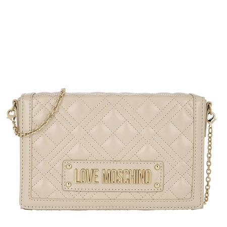 Love Moschino  Umhängetasche  -  Borsa Quilted Nappa Crossbody Bag Avorio  - in beige  -  Umhängetasche für Damen braun