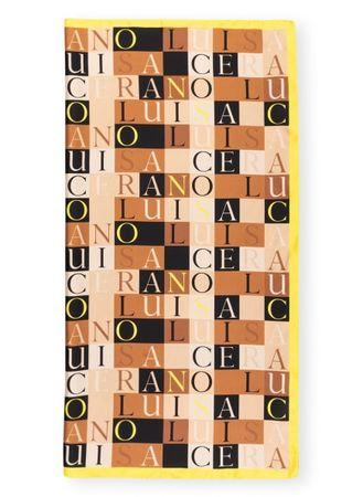 Luisa Cerano  Seidentuch beige orange