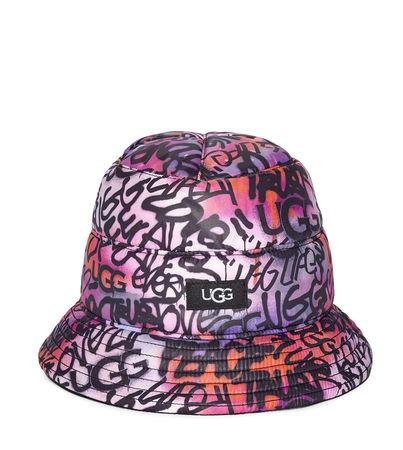UGG  Reversible All Weather Bucket Mütze für Damen Größe S/M grau