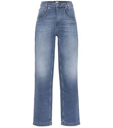 Magda Butrym High-Rise Jeans Stillwater grau