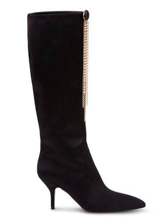 Magda Butrym  - Stiefel 'Egypt Boots High Satin' aus Satin Schwarz schwarz