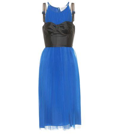 Maison Martin Margiela Minikleid aus Tüll blau