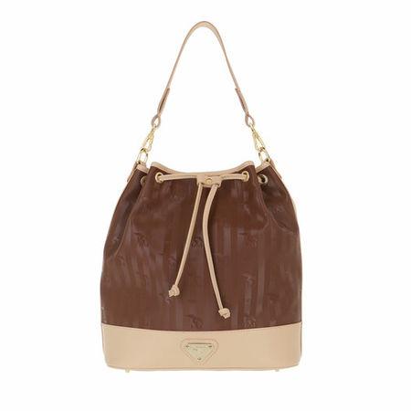 Maison Mollerus  Beuteltasche - Niesen Bucket Bag - in brown - für Damen