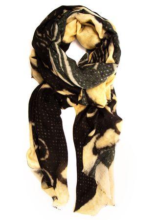 Maison Passage Schal aus Merinowolle schwarz