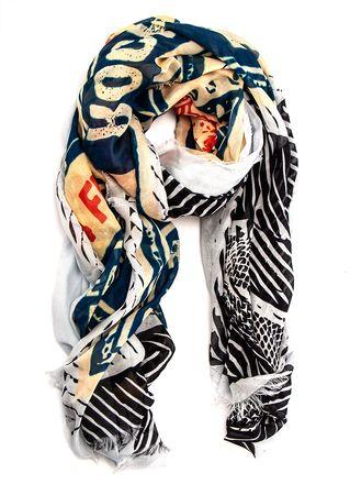 Maison Passage Schal aus Modal schwarz