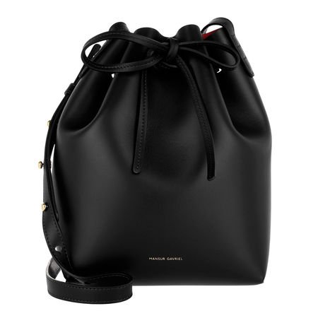 Mansur Gavriel  Beuteltasche  -  Mini Bucket Bag Black Flamma  - in schwarz  -  Beuteltasche für Damen schwarz