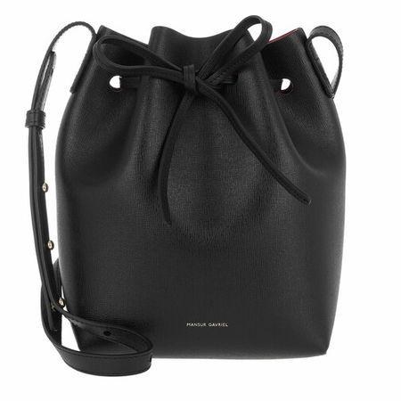 Mansur Gavriel  Beuteltasche - Mini Bucket Bag Leather - in schwarz - für Damen