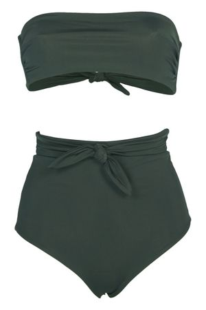 Mara Hoffman Abigail Bandeau Bikini Schwarz