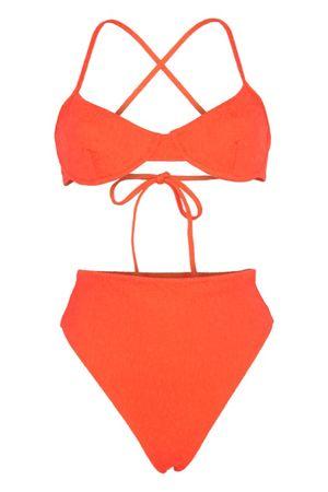 Mara Hoffman Mazlyn Bügel Bikini Rot