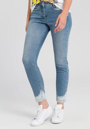 Marc Aurel  Jeans mit Nieten Damen grau