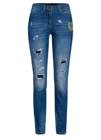Marc Aurel  Skinny Jeans im Destroyed Look Damen blau