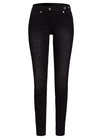 Marc Aurel  Skinny Jeans mit Lurexstreifen Damen schwarz
