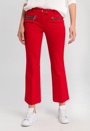 Marc Aurel  Zipperhose aus elastischem Jersey Damen grau