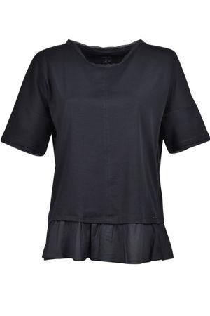 Marc Cain  Shirt mit Volant, Schwarz Damen grau