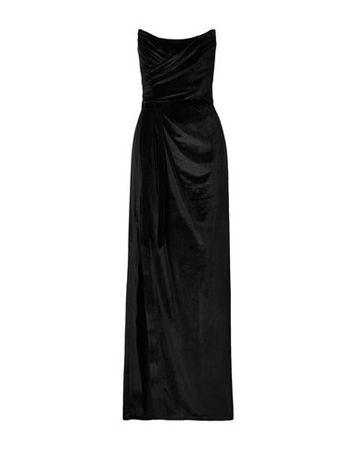 Marchesa Notte  Damen Schwarz Langes Kleid Polyester, Elastan schwarz
